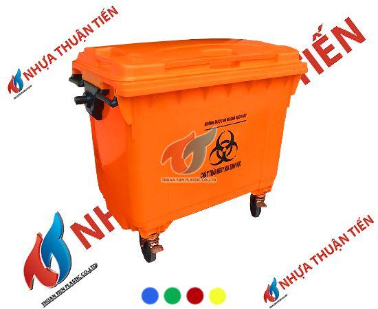 Mẫu thùng rác nhựa 660 lít