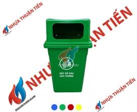Thùng rác công cộng 90L nắp hở