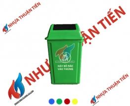 Thùng rác nắp lật 60L
