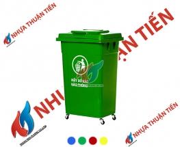 Thùng rác nhựa 90L nắp kín