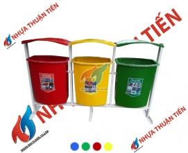 Thùng rác phân loại 3 ngăn treo