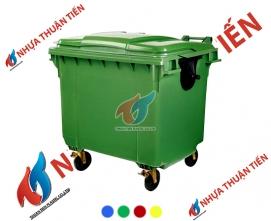 Xe gom rác nhựa 660L