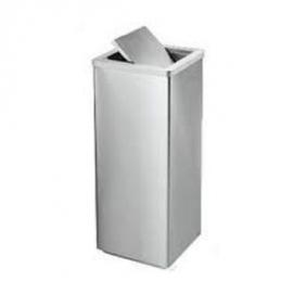 Thùng rác inox vuông trung